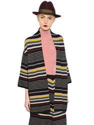 Antonio Marras Geometric Striped Wool Cardigan