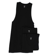 2Xist 3 Pack Essential Athletic Tank Top Black Men's Underwear
