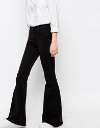 Dr. Denim Dr Denim Brigitte High Waist Skinny Flare Jeans Black