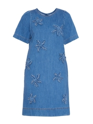 Muveil Starfish Applique Denim Dress