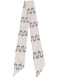 Thomas Wylde Oleander Printed Scarf Nude And Neutrals