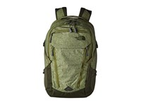 The North Face Surge Transit Terrarium Green Heather Rosin Green Backpack Bags