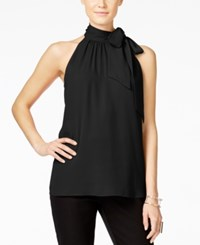 Inc International Concepts Tie Neck Halter Top Only At Macy's Deep Black