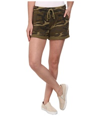 Alternative Apparel Light French Terry Rolled Shorts Camo Women's Shorts Multi