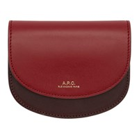 A.P.C. Burgundy And Red Compact Geneve Wallet