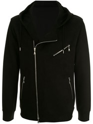 Loveless Hooded Zip Up Jacket Black