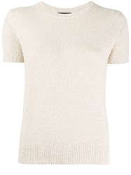 Theory Short Sleeved Top Neutrals