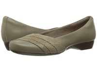 Clarks Blanche Cacee Sage Leather Women's Sandals Olive