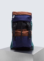 Marni Colorblock Backpack Bramble Ultramarine Black Nort