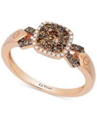 Le Vian Chocolatier Diamond Cluster Engagement Ring 1 2 Ct. T.W. In 14K Rose Gold