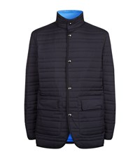 Z Zegna Reversible Quilted Jacket Male Navy