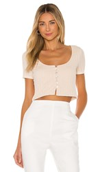 Privacy Please Pfeiffer Top In Cream Beige. Light Tan