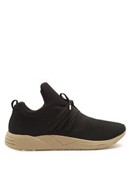 Arkk Copenhagen Raven S E15 Low Top Nubuck Leather Trainers Black