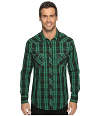Rock And Roll Cowboy Long Sleeve Snap B2s9064 Green Men's Long Sleeve Button Up