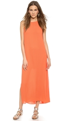 Alice Olivia Lucia High Slit Maxi Dress Sunset