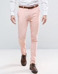 Asos Super Skinny Trouser In Pink Evening Sand