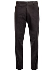 Kilgour Slim Fit Cotton Blend Chino Trousers Black