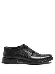 Burberry Asymmetric Grained Leather Brogues Black