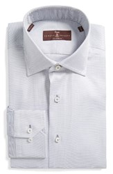 Robert Talbott Men's Big And Tall Estate Tailored Fit Solid Dress Shirt Silver