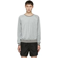 3.1 Phillip Lim Grey Classic Velour Sweatshirt