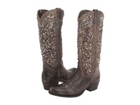 Frye Deborah Studded Tall Grey Cowboy Boots Gray
