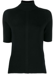 Falke Short Sleeved Knitted Top Black