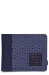 Herschel Supply Co. Edward Aspect Perforated Wallet Blue