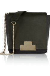 Iris And Ink Mayfair Leather Shoulder Bag Green