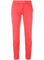 Blumarine Skinny Jeans Women Cotton 40 Pink Purple