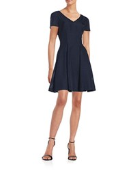 Nue By Shani Textured Darted Dress Navy