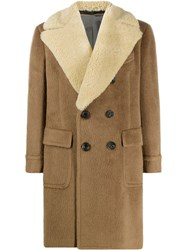 Gabriele Pasini Shearling Collar Coat 60