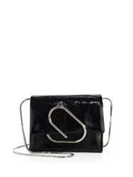 3.1 Phillip Lim Alix Micro Patent Leather Chain Crossbody Bag Black
