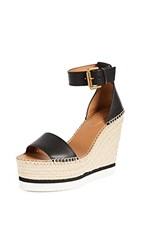 See By Chloe Glyn Wedge Espadrilles Nero