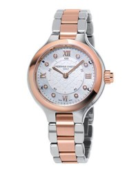 Frederique Constant 34Mm Ladies Horological Stainless Steel And 18K Rose Gold Smart Watch
