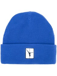 Alexander Wang Ribbed Beanie Hat Blue