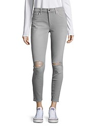 Joe's Jeans Skinny Ankle Distressed Alloy