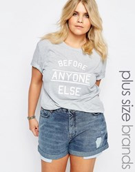 Alice And You Before Anyone Else Motif Tee Gray