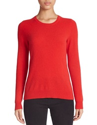 Lord And Taylor Basic Crewneck Cashmere Sweater Bright Red