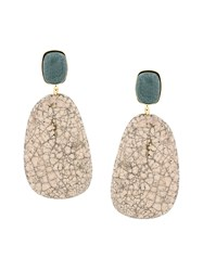 Etoile Isabel Marant Stone Drop Earrings Nude And Neutrals