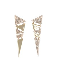 Alexis Bittar Crystal Encrusted Triangle Drop Earrings Gold