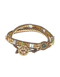 Lonna And Lilly Crystal Leather Bracelet Gold