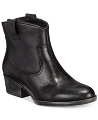 Kenneth Cole Reaction Hot Step Booties Women's Shoes Black