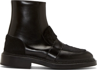 Yang Li Black Leather Loafer Boots