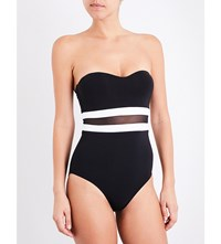 Jets By Jessika Allen Classique Bandeau Swimsuit Black White