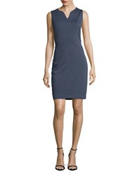 T Tahari Audra Sleeveless Dress Blue