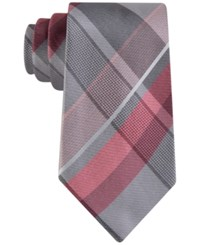 Geoffrey Beene Men's Far And Wide Classic Plaid Tie Coral