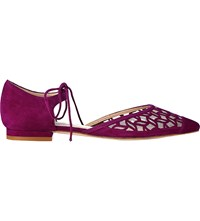Lk Bennett Mikaila Suede Pointed Flats Pur Orchid