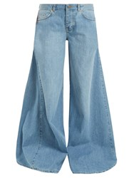 Raey Moon Godet Insert Wide Leg Jeans Light Blue