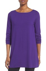 Eileen Fisher Women's Jersey Bateau Neck Tunic Ultra Violet