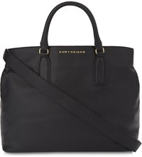 Kurt Geiger London Chelsea Leather Tote Bag Blk Beige